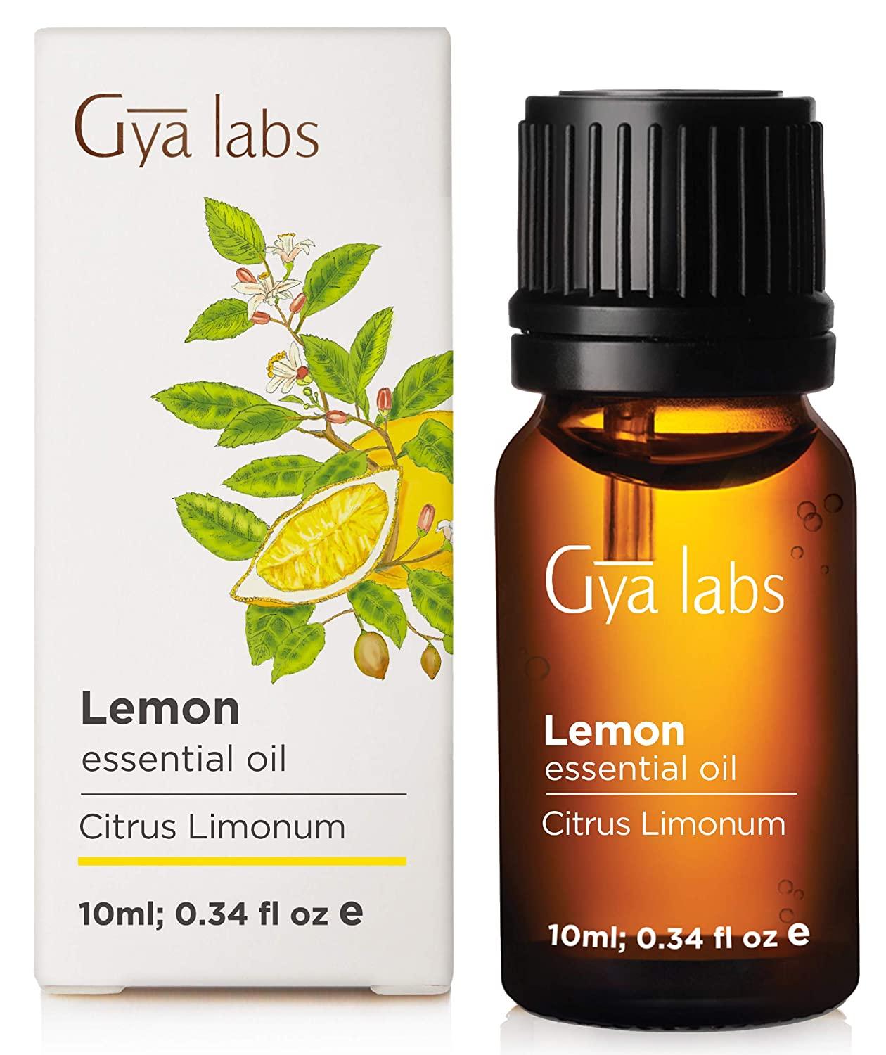 Lemon Essential Oil for Skin, Diffuser, Aromatherapy and Soap Making (10ml) - 100% Pure Therapeutic Grade - Gya Labs