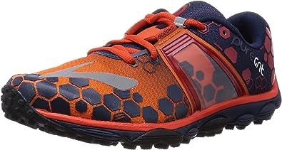 BROOKS PureGrit 4 Zapatilla de Trail Running Caballero, Gris/Naranja, 42.5: Amazon.es: Zapatos y complementos