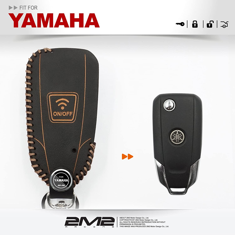 Cadena de llavero de piel funda Cover Fit Para Yamaha ...