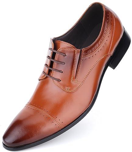 9ea66f38d34bcf Mio Marino Leder Herren Anzugschuhe  Elegante Derby Schuhe aus Echtleder -  Schnürhalbschuhe   Business Schuhe