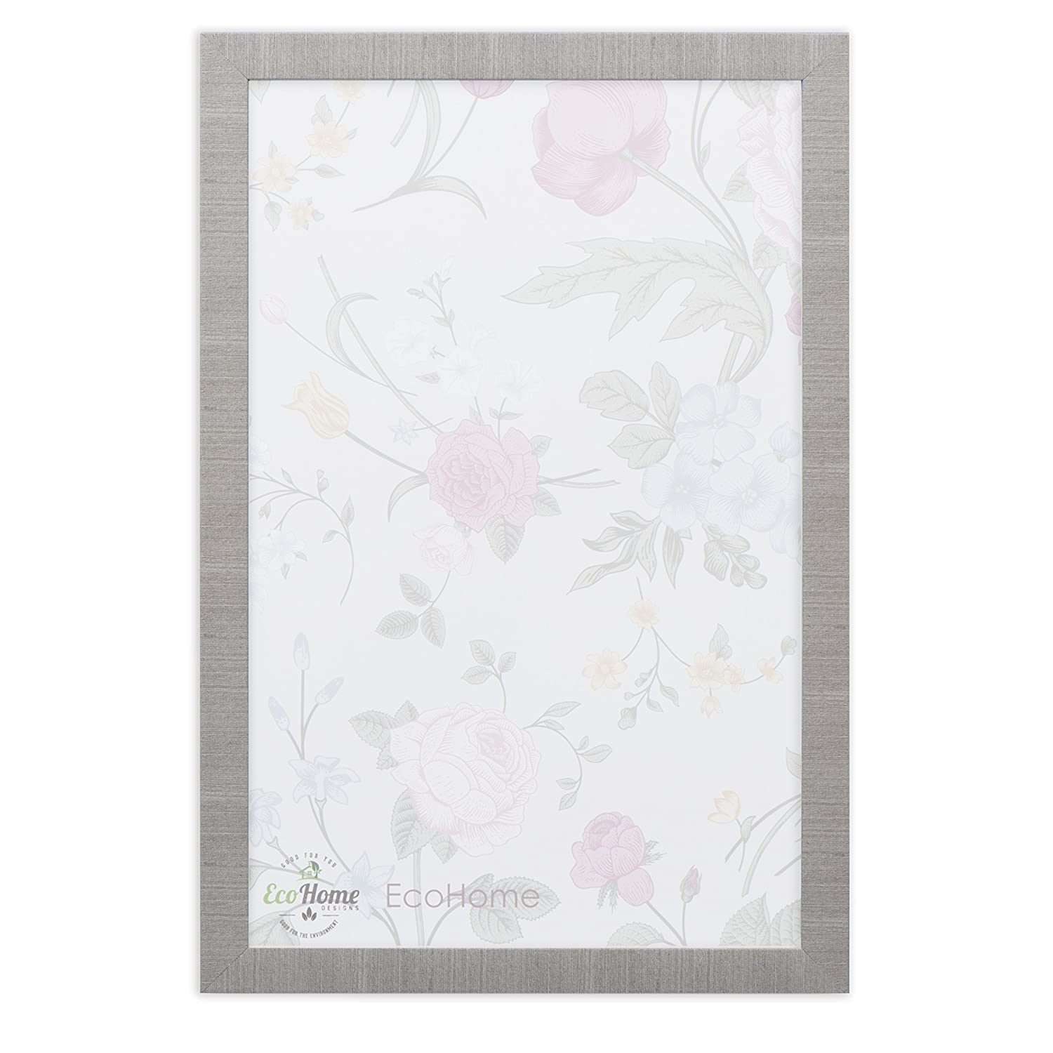 11x14 Picture Frame Modern Gray - Matted to 8x10, Frames by EcoHome