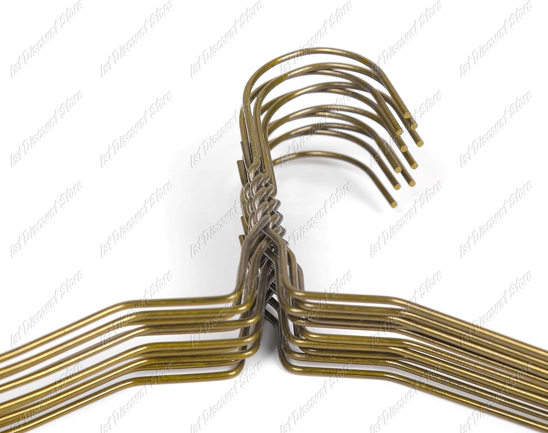 Bricolage Lot de 100 cintres solides /à encoche en m/étal Bronze 40 cm