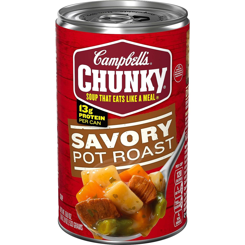 Campbell's Chunky Soup, Savory Pot Roast Soup, 18.8 Ounce Can