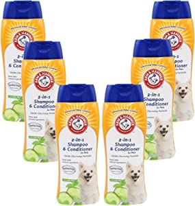 Arm & Hammer For Pets Arm & Hammer Super Deodorizing Shampoo for Dogs   Odor Eliminating Shampoo for Smelly Dogs & Puppies, White, 20 Ounce - 6 Pack (FF10477PCS6)