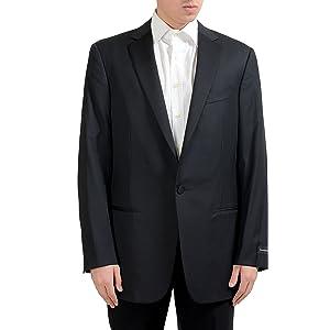 56c8e69243 Z Zegna Men's Mohair Wool Off Black Two Button Blazer Sport Coat US ...