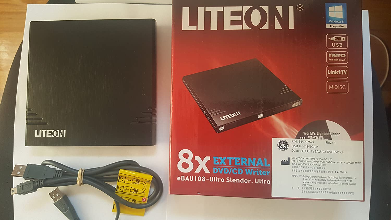Lite On 8x External USB DVD Writer eNAU108-111