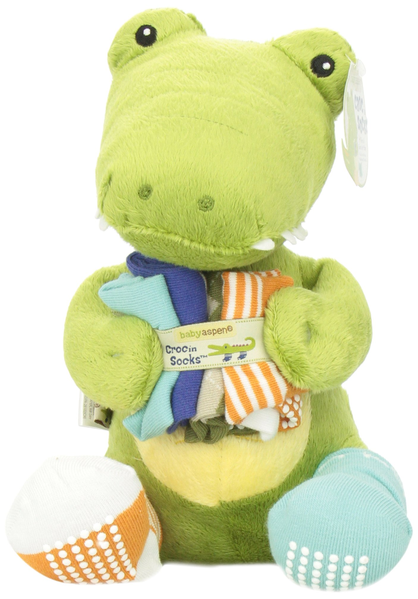 4ab06a1d9be47 Galleon - Baby Aspen Toy And Baby Socks Gift Set