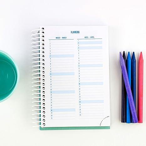 Casterli - Colección Have Fun - Agenda Escolar 2020-2021, Día Página, Tamaño A6 (Wild and Free): Amazon.es: Oficina y papelería