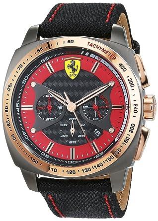 photos officielles 9c1ae 8bf83 Scuderia Ferrari Homme Chronographe Quartz Montres bracelet avec bracelet  en Nylon - 0830294