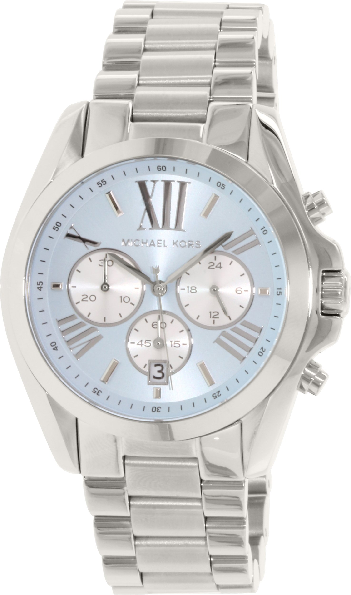 Michael Kors Bradshaw Blue Dial SS Chronograph Quartz Ladies Watch MK6099
