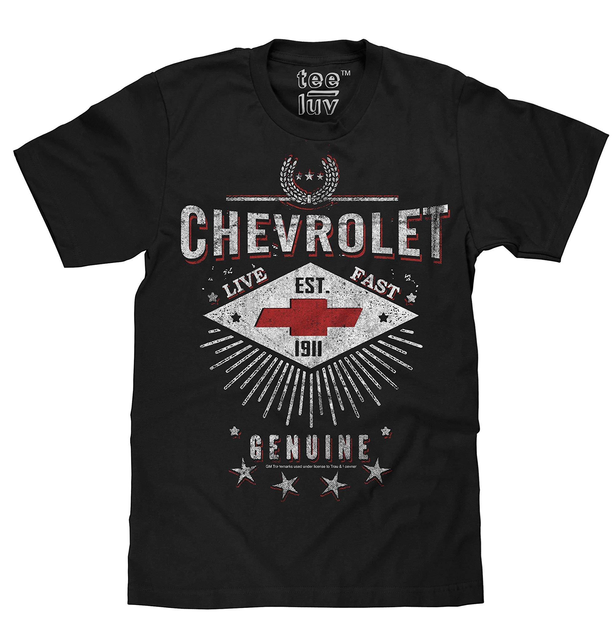 Chevrolet Tshirt Live Fast Chevy Shirt Black