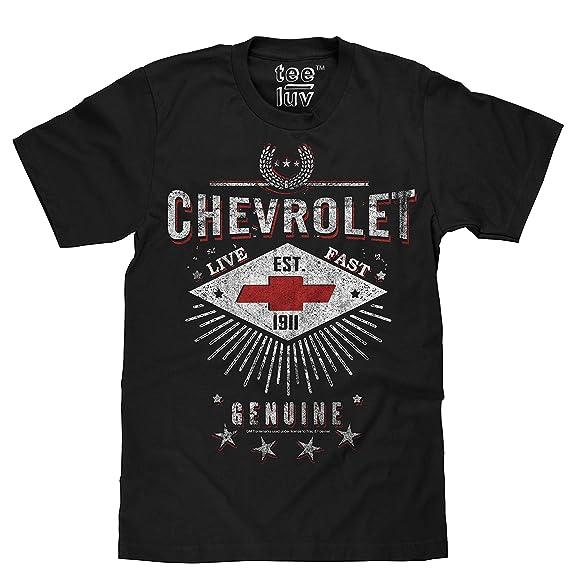 ed1d50e2 Tee Luv Chevrolet T-Shirt - Live Fast Chevy Shirt (Black)
