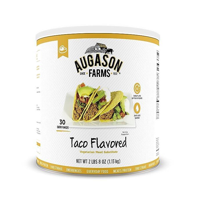 Amazon.com: Las granjas de augason Taco Flavored Vegetariana ...