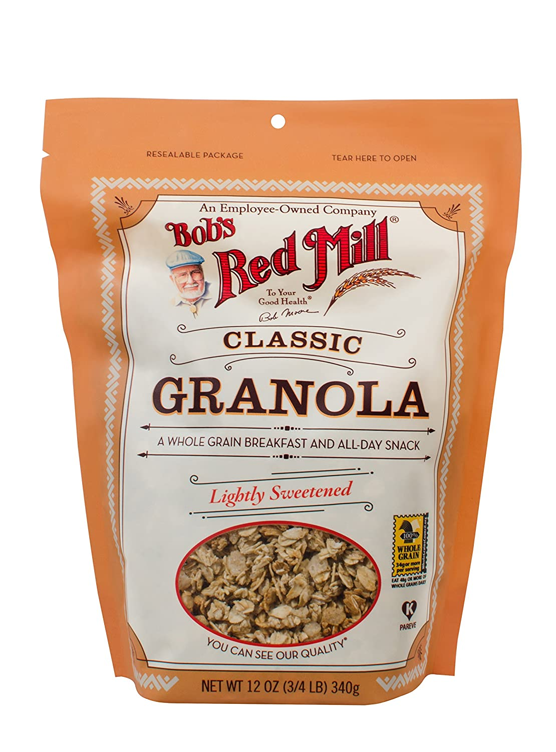 Bob's Red Mill Classic Whole Grain Granola, 12 Ounce (Package May Vary)