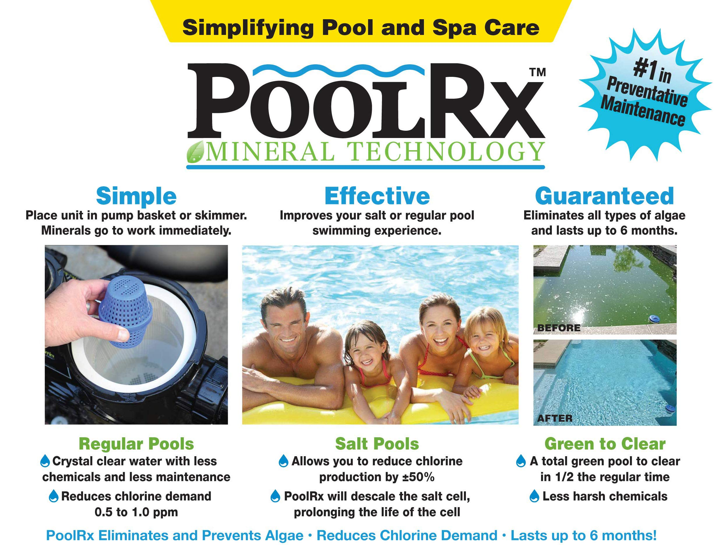 PoolRx Pool Unit #101066 6 Month Algaecide Treats 20k-30k gallons, Black by Pool RX