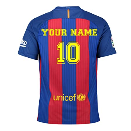 Customise4u named personalised barcelona shirt with your childrens name named kids wall stickers wall art
