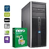 PC Gamer Multimédia Unité Centrale - HP Elite 8200 - Nvidia Geforce GTX1050 - Core i5-2400 @3,1GHz - 8Go DDR3RAM - 240Go SSD - 1To HDD - Lecteur DVD - Win 10 Pro 64 Bits (Reconditionné Certifié)