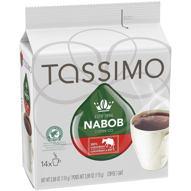 Tassimo nabob Café 100% Colombiano 14 T DISCs (110g/3.8oz ...