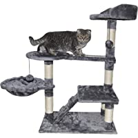 """Roypet 32"""" Cat Tree with Scratching Pad and Perch, Grey"""