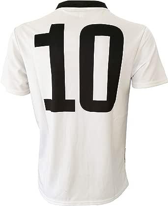 Perseo Trade - Camiseta Juventus número 10, réplica autorizada 2019-2020 para niño (tallas 2 4 6 8 10 12) adulto (S M L XL) ligeras notas (4/5 años): Amazon.es: Ropa y accesorios