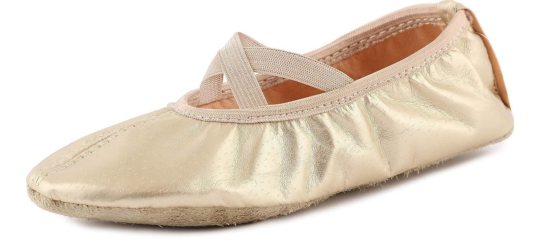 Tailles 25-41 LAJD002 Ladeheid Chaussures de Ballet Ballerines Chaussons de Simili Cuir Gar/çon Fille et Femme