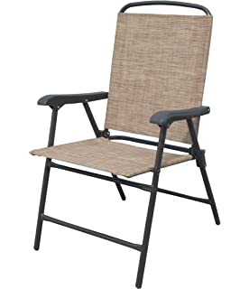 ISO Outdoor Patio Sling Folding Chairs, Set Of 4