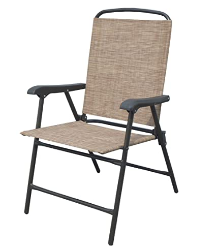 Delicieux ISO Outdoor Patio Sling Folding Chairs, Set Of 4