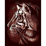 REEVES Kratzbild Gold Tiger Portrait