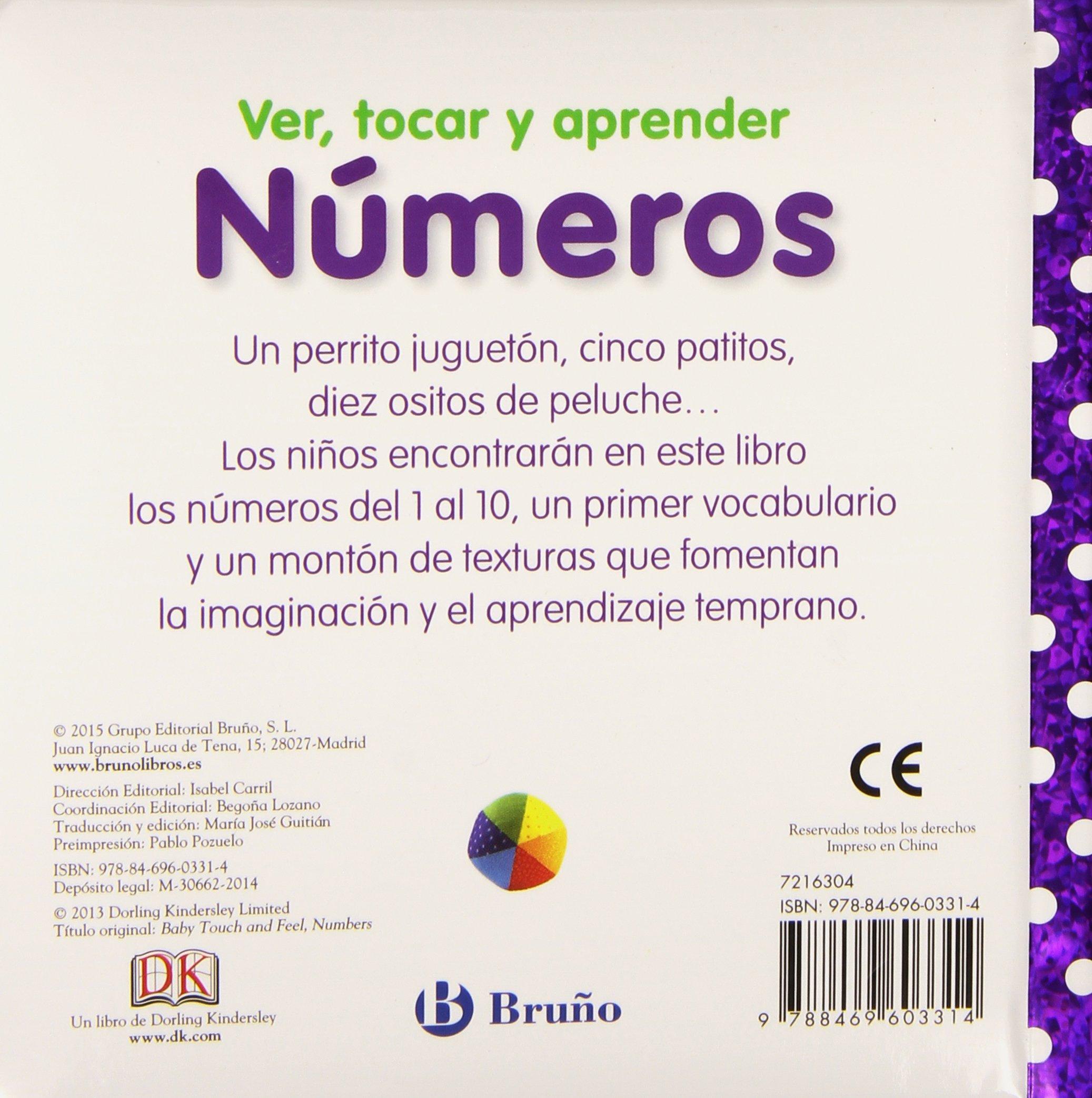 Ver, tocar y aprender: Números (Spanish Edition): varios, Bruño: 9788469603314: Amazon.com: Books