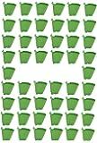 NOVICZ 50 Pcs Vertical Garden Pots and Planter Wall Hanging pots for Plants, Green Color