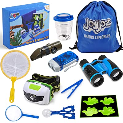 Joyjoz Adventure Kit, Outdoor Explorer Kit for Kids with Compass, Binoculars, Flashlight, Magnifying Glass, Backpack, Toys for Boys Girls Camping Hiking: Toys & Games
