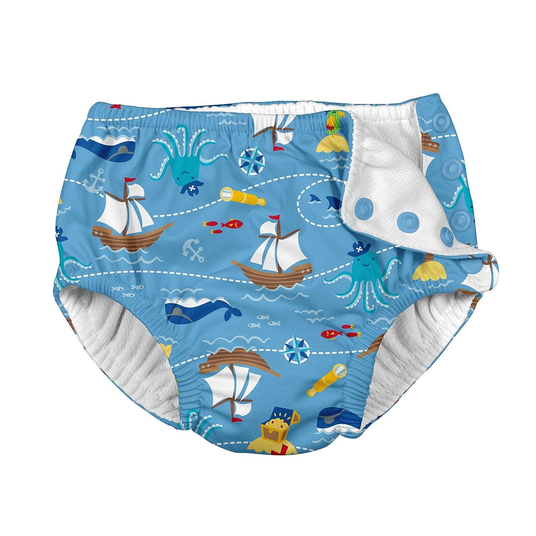 iPlay Jungen Schwimmwindel Badewindel mit Kn/öpfen UV Schutz Pirate Ship