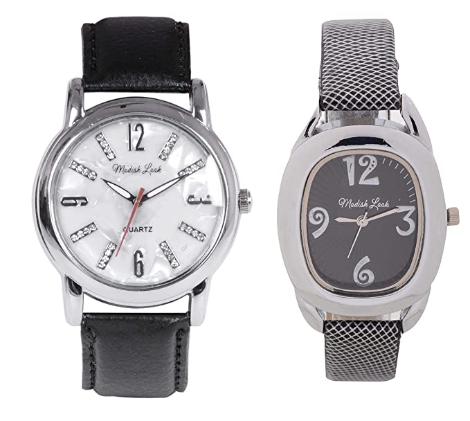 Modish Look Analogue Men's Women's Couples Watch - MLJW9002