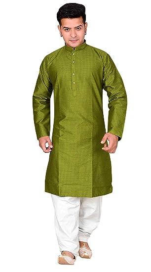 Desi Kurta Pajama Men Ethnic Indian Salwar Kameez Men Indo Western Sherwani