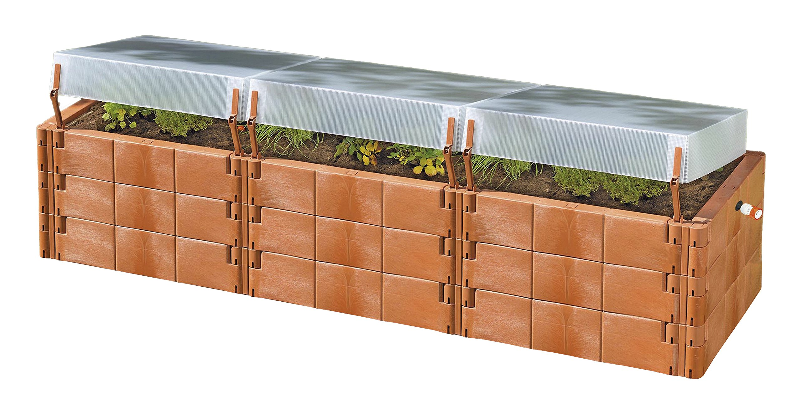 Exaco Trading Company Triple Box 20374 Raised Bed with Cold-Frame by Exaco Trading Company