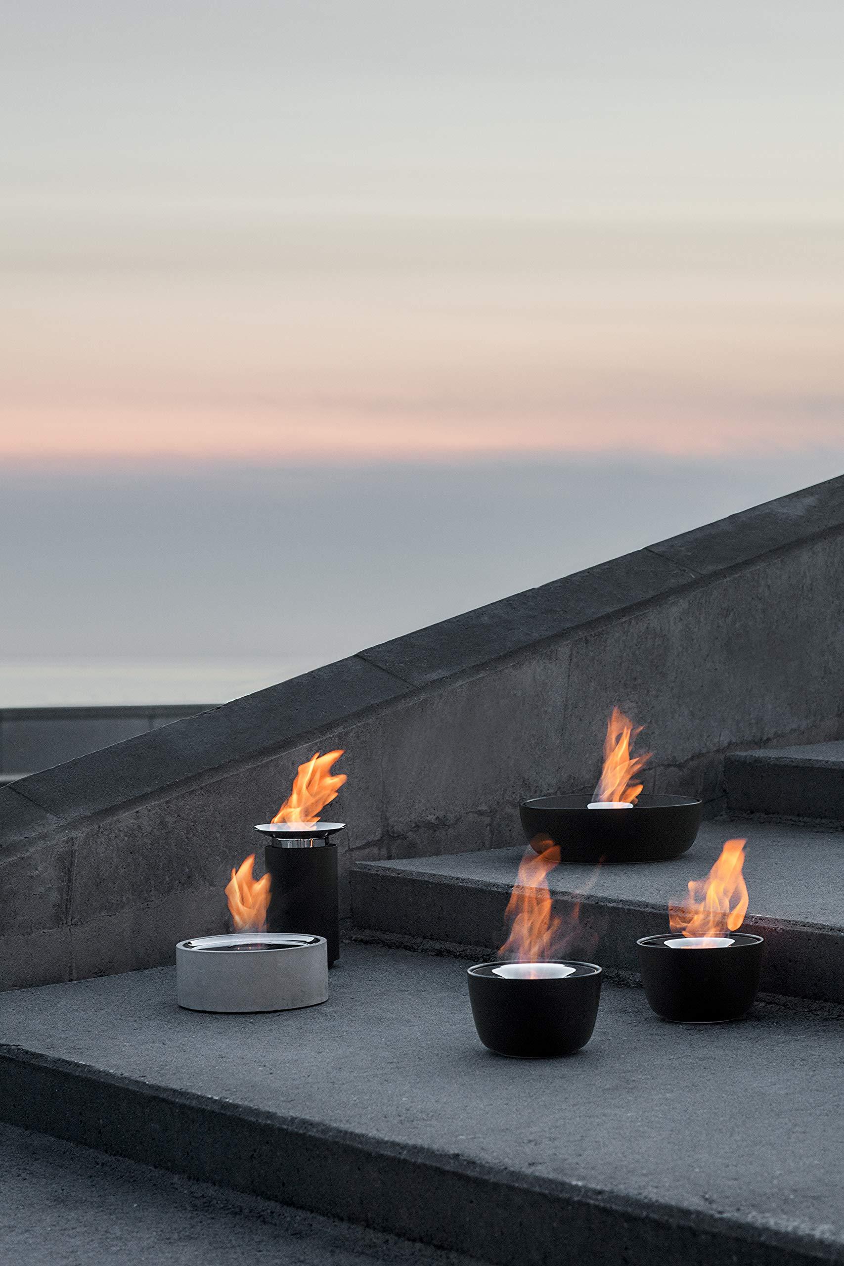 Blomus LUMINO Tabletop Firepit Gel Burning Gray by Blomus