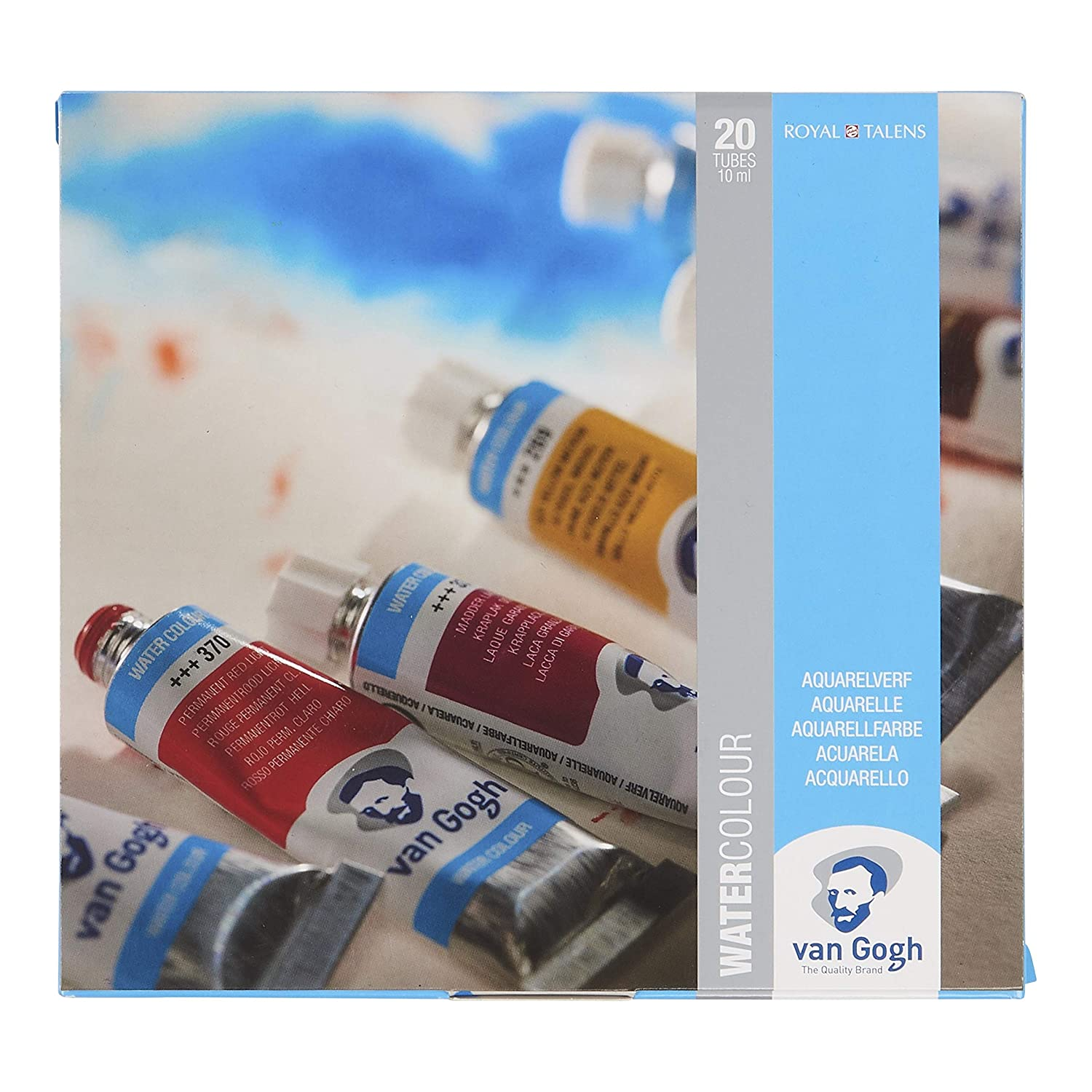 Royal Talens 20 Colours Van Gogh Water Colour Tubes Cardboard Set