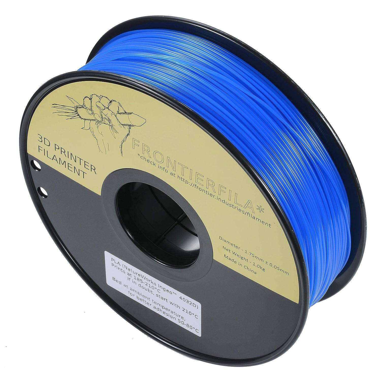 PLA transparente azul 1.75mm 1kg FrontierFila Filamento para impresora 3D
