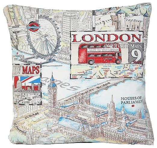 Diseño de Londres Big Ben Kisenbezüge Landmark almohada ...