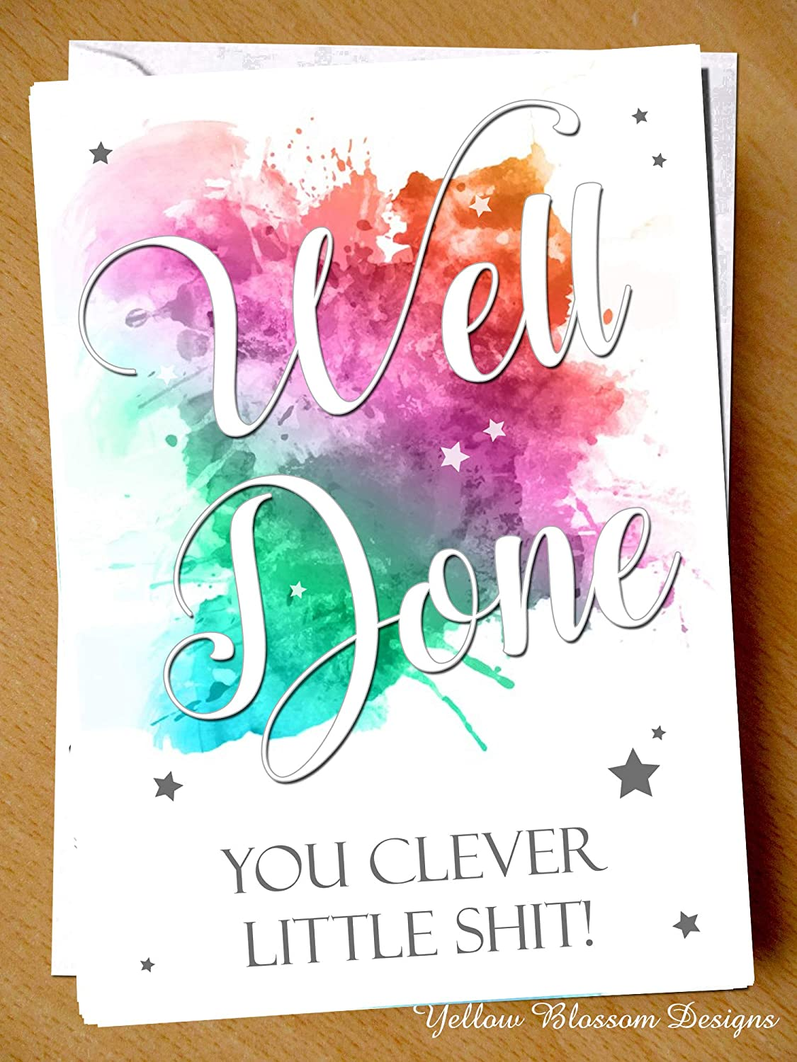 CONGRAULATIONS YOU DID IT PASSING DRIVING TEST EXAM CARD GREAT WELL DONE NEW