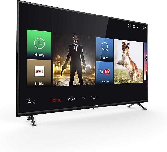 TCL 43DP602, Televisor de 43 pulgadas, Smart TV con UHD 4K, HDR, Dolby Digital Plus, T-Cast y sintonizador Triple, Color Negro [Clase de eficiencia energética A+]: Amazon.es: Electrónica