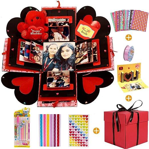 MMTX Caja de Regalo Creative Explosion Box, DIY Álbum de Fotos Scrapbook 5.9x5.9x5.9 Inche Álbum de Fotos de Scrapbooking Caja de Regalo para ...