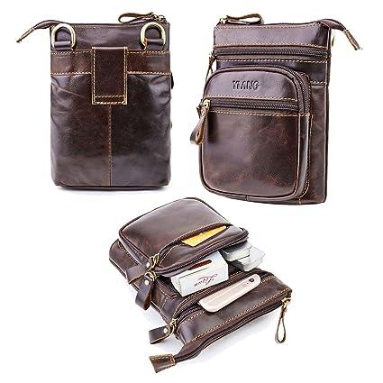 0e3f8fda5c1 Amazon.com: Genuine Leather Waist Bag,AOLVO Vertical Cellphone ...