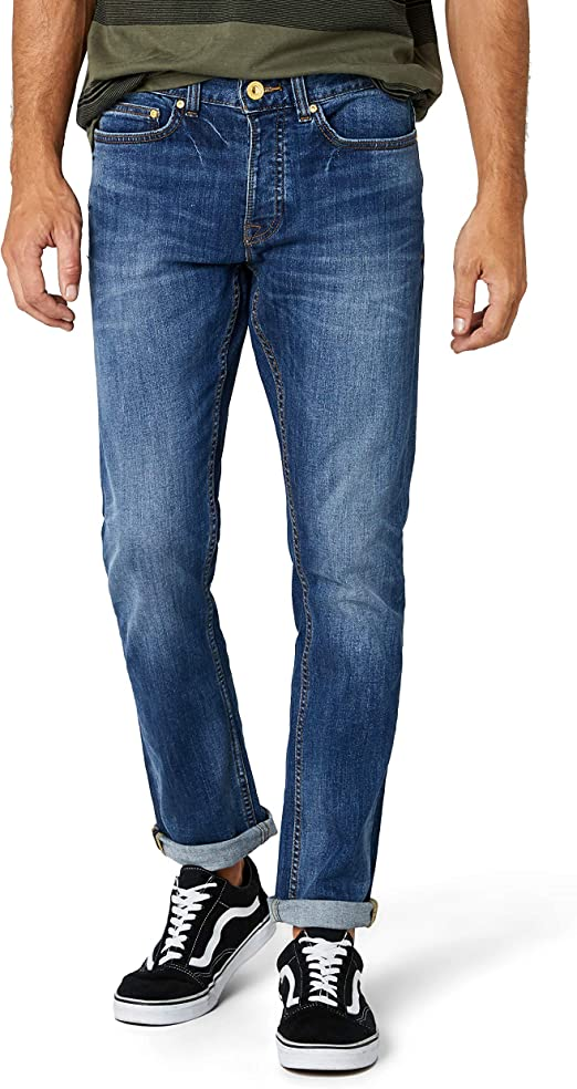 TALLA W76/L81 EU (W30/L32 UK). New Look Indigo Wash Slim, Pantalones Para Hombre