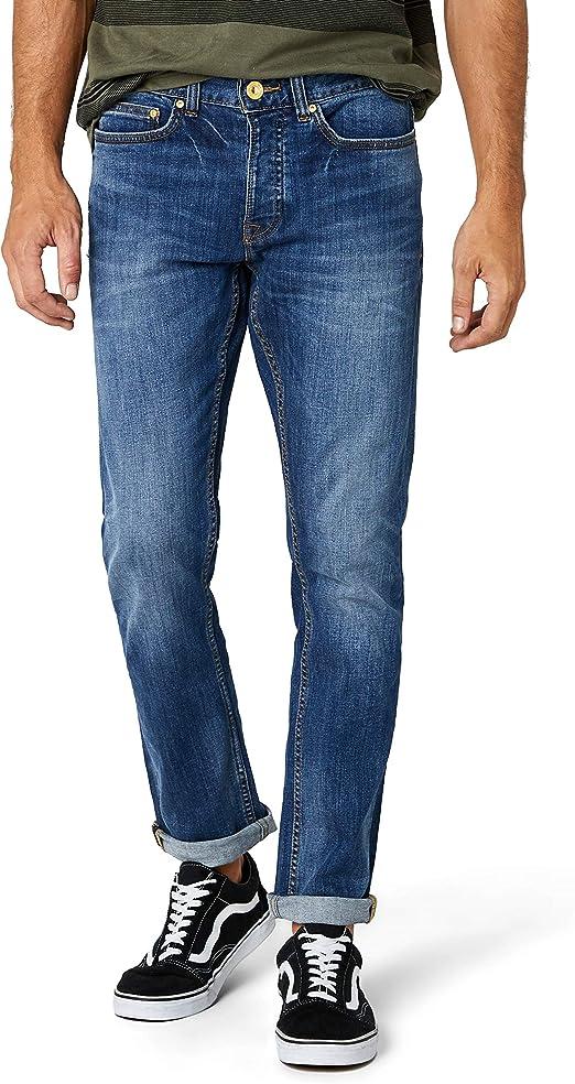 TALLA W76/L81 EU (W30/L32 UK). New Look Indigo Wash Slim, Pantalones Para Hombre