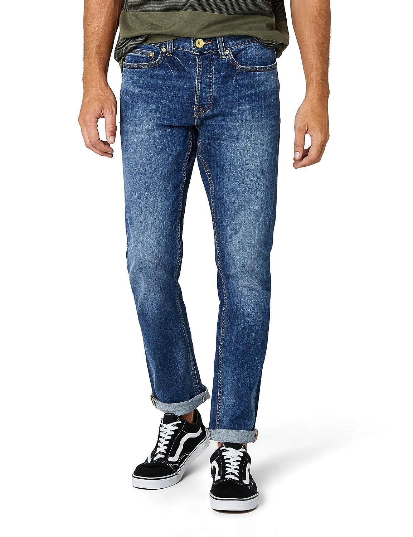 New Look Indigo Wash Slim, Pantalones Para Hombre