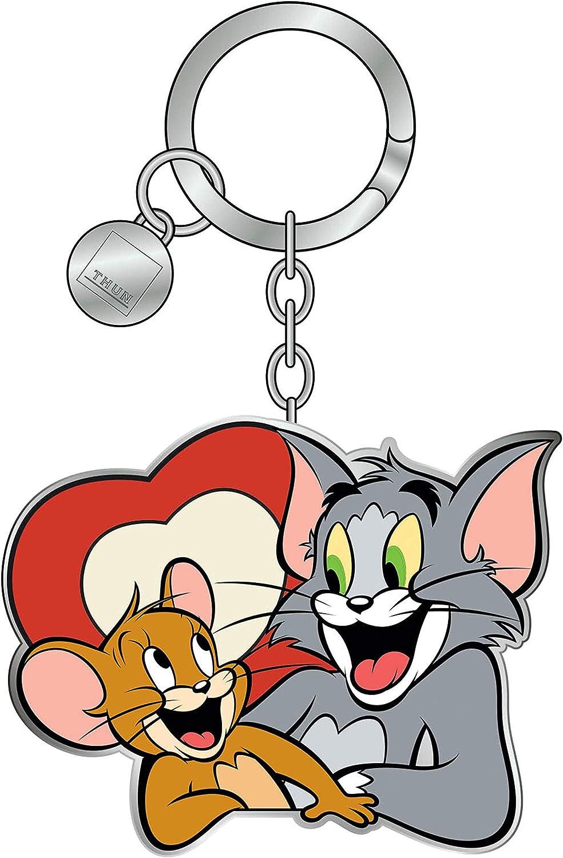 Linea Warner Bros Tom E Jerry Accessorio Lega Di Zinco Placcato E Ottone Placcato Portachiavi Tom E Jerry Thun 3 5 X 6 7 H Cm Donna Valigeria Aaaid Org