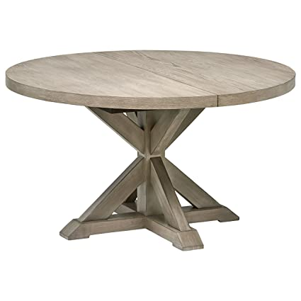Stone & Beam Creston Modern Expandable Wood Dining Kitchen Table, Round,  72\