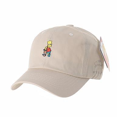 WITHMOONS The Simpsons Baseball Cap Bart Simpson Skateboard Hat HL1583  (Beige)  Amazon.co.uk  Clothing 8da84edab96