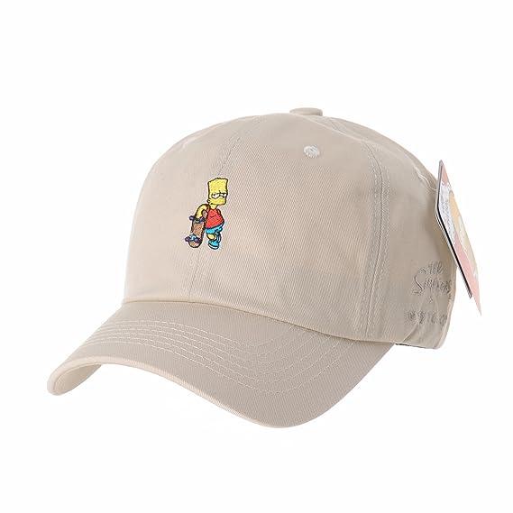 97657579827 WITHMOONS The Simpsons Baseball Cap Bart Simpson Skateboard Hat HL1583  (Beige)